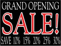 Business-06 Grand Opening Sale Yard Sign