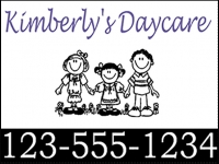 Daycare-01 Kim's Daycare Yard Sign Template