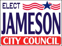 Political 06- Elect Jameson Yard Sign Template