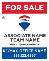 REMAX® Vertical Standard Panel W/Team Name