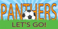 Soccer-01 Go Panthers! Banner Template