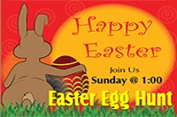 Easter Egg Hunt Yard Sign Template