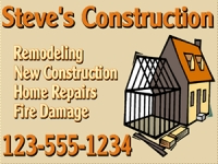 Tradesman 07-Steves Construction Yard Sign