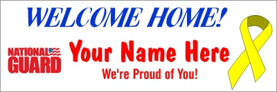 Military|2'x6'-04 US National Guard Welcome Home Banner