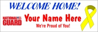 2x6 Welcome Home National Guard Message Banner