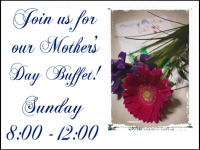 Mothers Day 4 Buffet Yard Sign Template