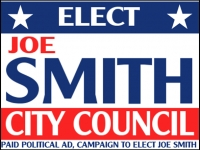 Political 07- Elect Joe Smith Yard Sign Template