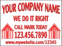 Tradesman 05-Your Company Name Yard Sign