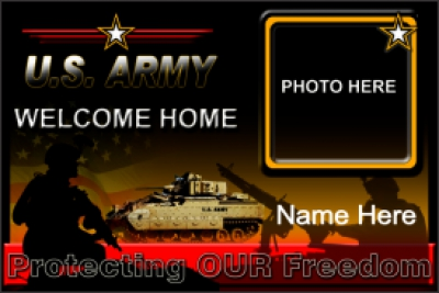 Military|4'x6'-02 US Army Welcome Home Banner