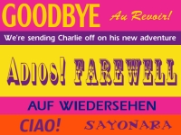 Retirement 05- Au Revoir-Goodbye Yard Sign Template