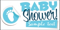 Baby Banner 08- Boy Shower Banner Template