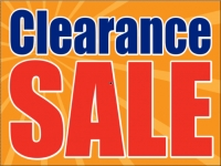 Business-11 Orange Clearance Sale Yard Sign