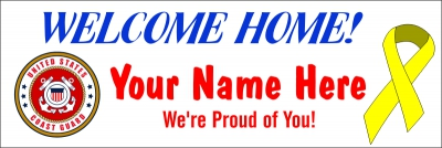 Military|2'x6'-05- US Coast Guard Welcome Home Banner