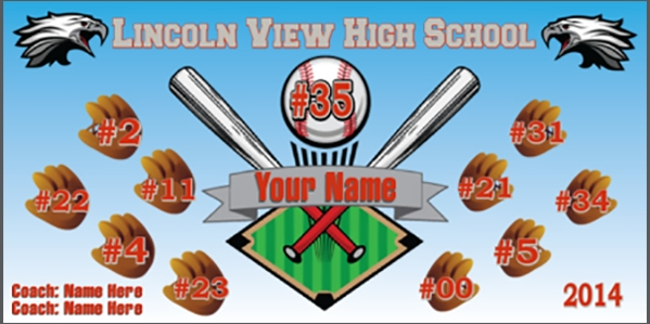 Baseball-04 Team #'s Banner Template