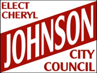 Political 04- Elect Cheryl Johnson Yard Sign Template