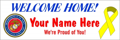 Military|2'x6'-03- US Marines Welcome Home Banner