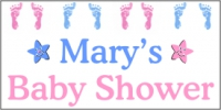 Baby Banner 01- Boy/Girl Shower Design