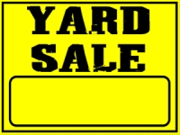 Garage/Yard Sale 4 Yard Sign Template