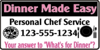 Catering/Food 02 Personal Chef Banner Template