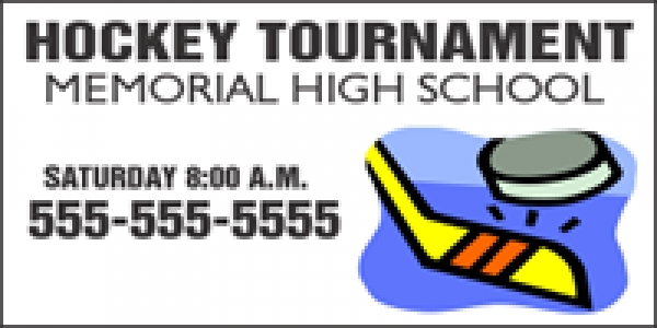 Hockey-02 Tournament Banner Template