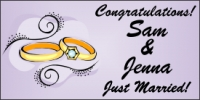 Wedding Banner - Sam & Jenna
