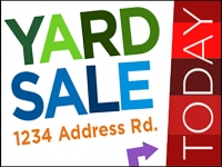 Garage/Yard Sale 2 Yard Sign Template