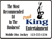 Music/Entertainment 01- Paul King Yard Sign Template