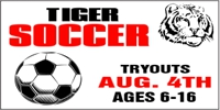 Soccer-03 Tiger Sports Banner Template