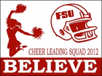 Cheerleading 01- Squad Believe Yard Sign