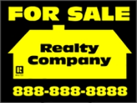Black/Yellow For Sale Realty Company Panel Template