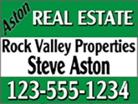 Aston Real Estate Panel Sign Design Template