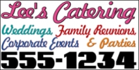 Catering/Food 04 Lee's Catering Banner Template