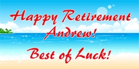 Retirement 04- Andrew on the Beach Banner