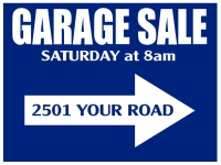 Garage/Yard Sale 8 Yard Sign Template