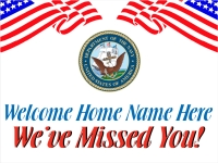 Military 04- Welcome Home Navy Yard Sign Template