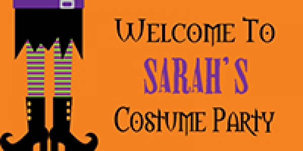 Halloween 02 Costume Party Banner
