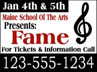 Music/Entertainment 05- Maine School Arts Yard Sign Template