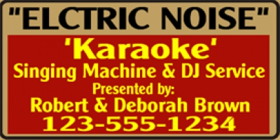 Music|Entertainment 07- DJ & Karaoke Service Banner