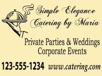 Catering/Food-05 Simple Elegance Yard Sign