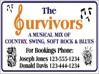 Music/Entertainment 03- Survivors Music Yard Sign Template