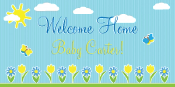Baby Banner 05- Welcome Home Boy Layout