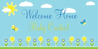 welcome home baby boy banner