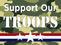 4th of July - Support our Troops Yard Sign
