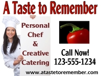 Catering/Food-11 'A Taste to Remember' 2 Yard Sign