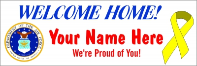 Military|2'x6'-01- US Air Force Welcome Home Banner