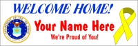 2x6 ft Air Force Welcome Home Message Banner