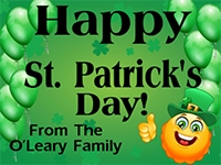 St. Patricks Day 6 Yard Sign Template