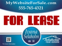 Ivana Selaholm w/QR Code Real Estate Sign Template