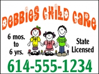 Daycare-02 Debbies Child Care Yard Sign Template