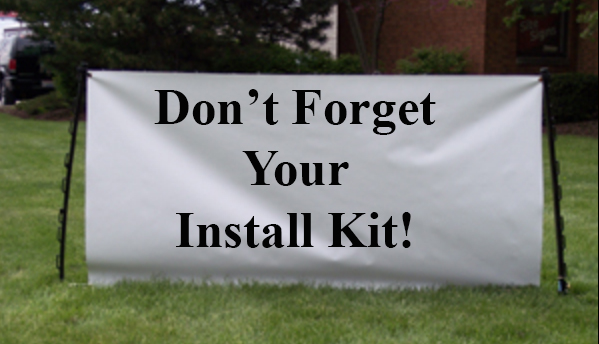 banner install kit for Vinyl Banners